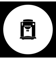 Black isolated espresso italian coffee machine vector