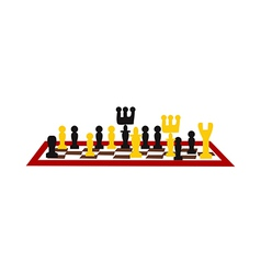 A chess game vector image