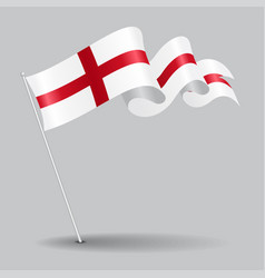 English pin wavy flag vector