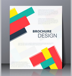 Abstract digital business brochure vector