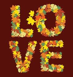 autumn love message design vector image