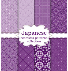 10 different japanese asian seamless patterns vector