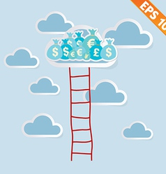Ladder with cloud - - eps10 vector
