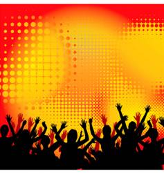 circles crowd hands vector image