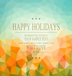 vintage natural background of triangles vector image