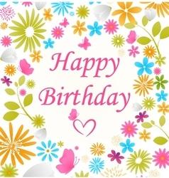 Beautiful Birthday card vector image