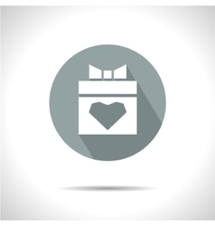 Present with heart icon eps10 vector