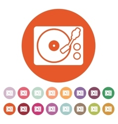 The turntable icon dj and melody music player vector