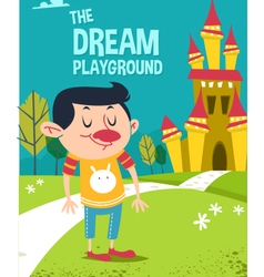 Cartoon dream playground vector