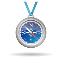 Compass with cord vector