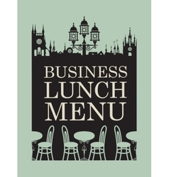 Menu for business lunch vector image