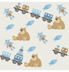 Seamless pattern of baby toys2 vector