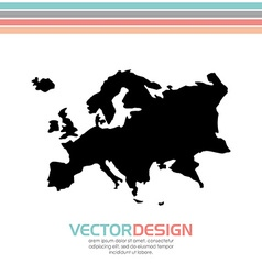 Europe map design vector