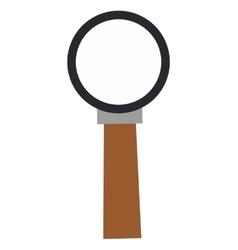 Simple magnifying glass icon vector