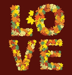 autumn love message design vector image vector image