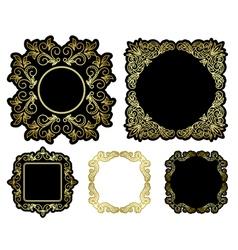 black and gold beautiful frames - vintage vector image