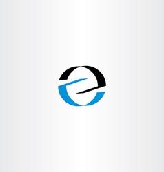 black blue logo letter icon z logotype z vector image vector image