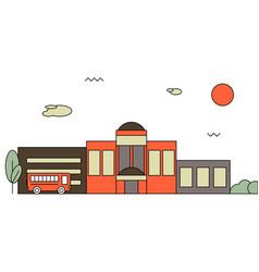 bright flat of school building vector image vector image