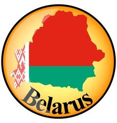 Button belarus vector