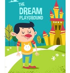 Cartoon dream playground vector