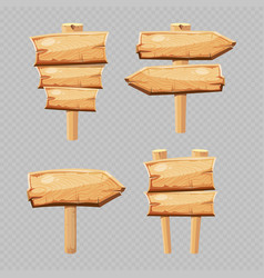 cartoon wooden blanks isolated on vector image vector image