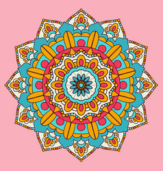 colourful mandala background design vector image