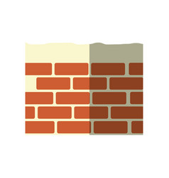 Construction brick isolated vector