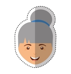 cute old woman character vector image