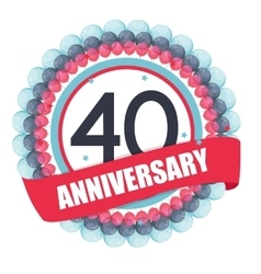 Cute Template 40 Years Anniversary with Balloons vector image vector image