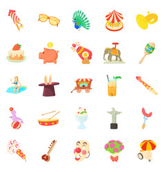 festivities icons set cartoon style vector image vector image