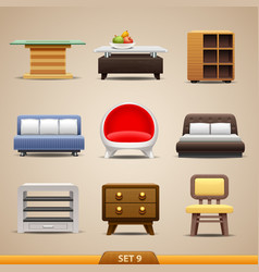 furniture icons-set 9 vector image vector image