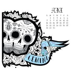 Gemini tattoo vector image