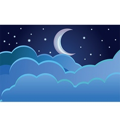 Half moon background vector