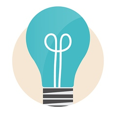 Light bulb Modern Flat design concept vector image
