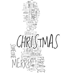 Merry christmas text background word cloud concept vector