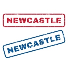 Newcastle rubber stamps vector