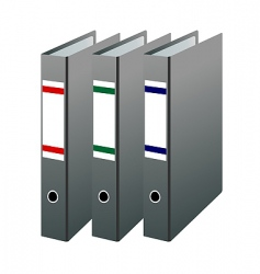 office folders vector image vector image