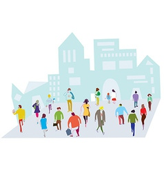 People in the city - crowd on the street vector image vector image