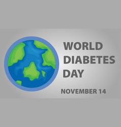 Poster design for world diabetes day vector