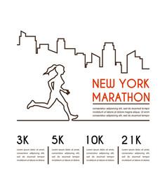 running marathon poster design vector image vector image