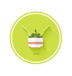 Salad icon vector