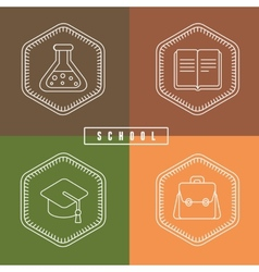 school design elements vector image vector image