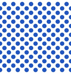 Seamless pattern with blue polka dots vector