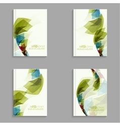 Set magazine cover vector