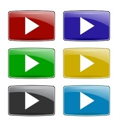 Set of Colorful Play Icons vector image vector image