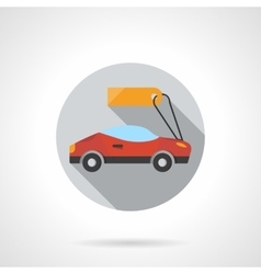 Sports car rental round flat color icon vector