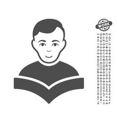 Student icon with bonus vector