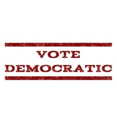 Vote democratic watermark stamp vector