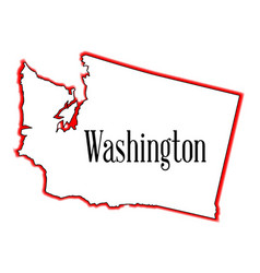 Washington outline vector