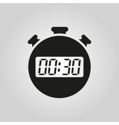 The 30 seconds minutes stopwatch icon clock and vector